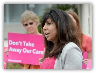 Anna Eskamani speaking at Planned Parenthood healthcare rally