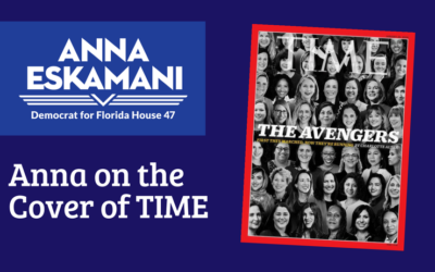 Anna V. Eskamani appears on the cover of TIME magazine