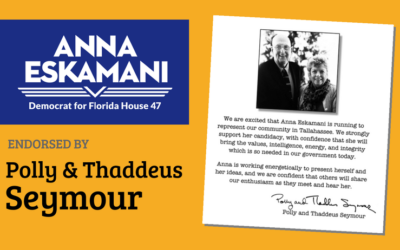 Polly and Thaddeus Seymour Endorse Anna V. Eskamani For Florida House