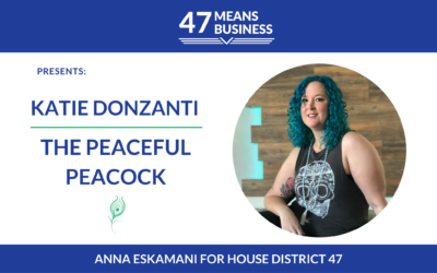 47 Means Business: Katie Donzanti of The Peaceful Peacock