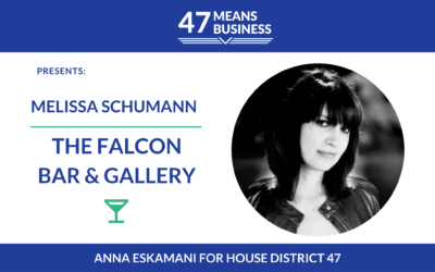 47 Means Business: Melissa Schumann of The Falcon Bar & Gallery
