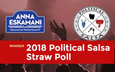 Anna V. Eskamani Wins 2018 Political Salsa Straw Poll