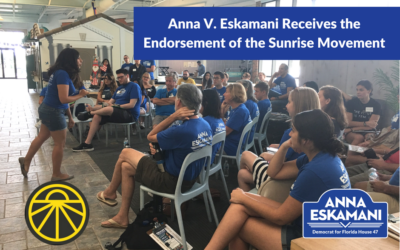 Anna V. Eskamani Receives the Endorsement of the Sunrise Movement