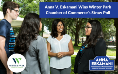Anna V. Eskamani Wins Winter Park Chamber of Commerce's Straw Poll