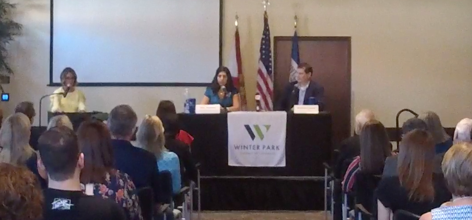 f793638f29c ... debated her Republican opponent at a forum hosted by the Winter Park  Chamber of Commerce. The debate was live streamed on Facebook, and you can  watch it ...