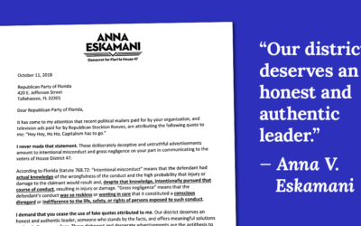 Anna V. Eskamani Calls Out Republican Party of Florida and Her Opponent for their Lies