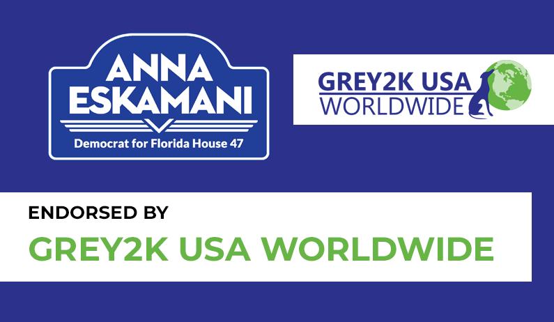 Anna V. Eskamani Endorsed by Grey2K USA WorldWide