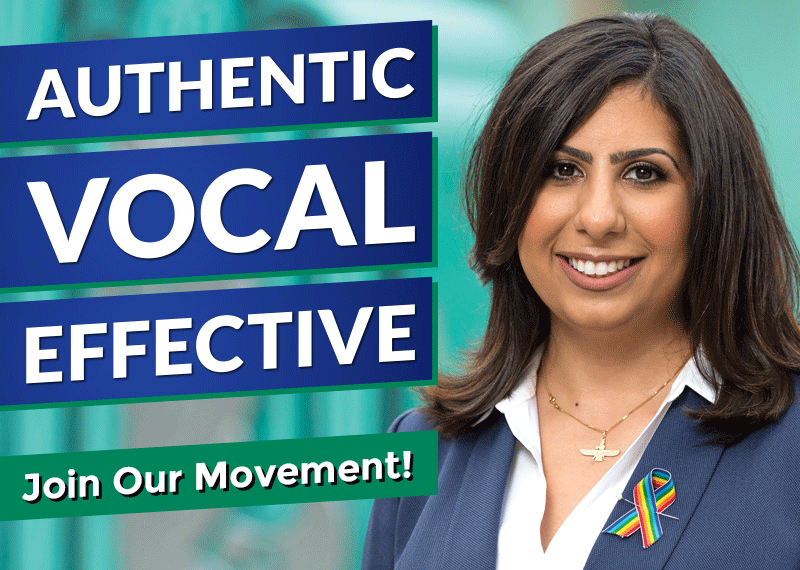 Picture of Anna Eskamani and Authentic | Vocal | Effective , and a call to action to join our movement