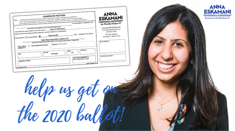 Help Us Get On The 2020 Ballot!