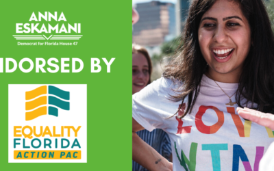 Representative Anna V. Eskamani Endorsed by Equality Florida for Her 2020 Campaign